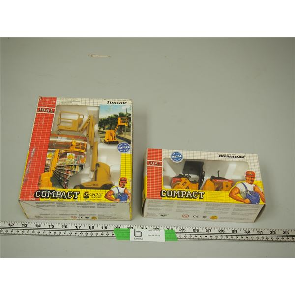 (2X THE MONEY) Joal Compact Dynapac 1/35 Scale and Grove Manlift 1/25 Scale Both (NIB)