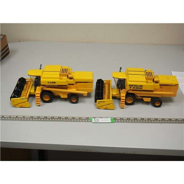 """(2X THE MONEY) New Holland TX66 Combines by Ros Made in Italy (Both 12.5"""" long)"""