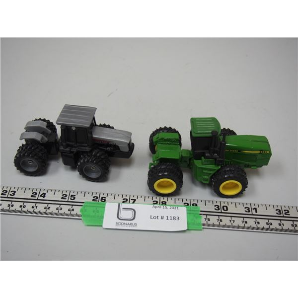 """(2X THE MONEY) Ertl John Deere 8560 4WD Tractor and AGCOSTAR 8426 4WD Tractor (Both 4"""" Long)"""
