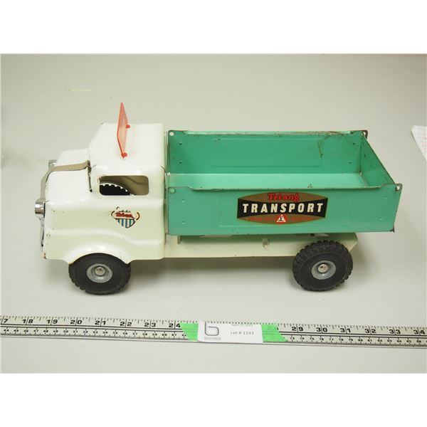 """Triang Transport Truck Made in England  (Pressed Steel) (14.5"""" long)"""