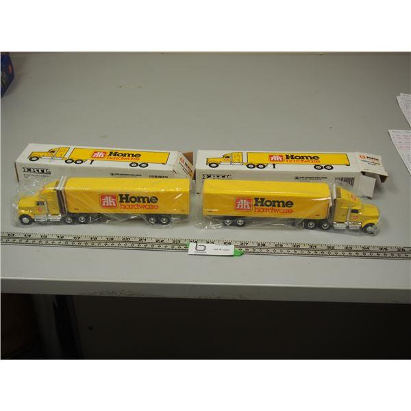 "(2X THE MONEY) International Truck Home Hardware Semis (NIB) 10.5"" Long"
