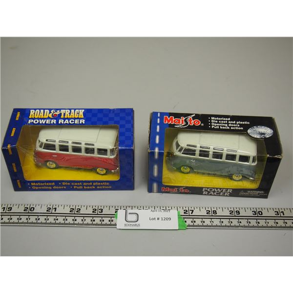 (2X THE MONEY) Road and Track and Maisto VW Multi Window Vans (NIB) 1/43 Scale?
