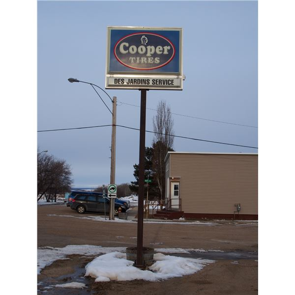 Cooper Tire Sign with Pole