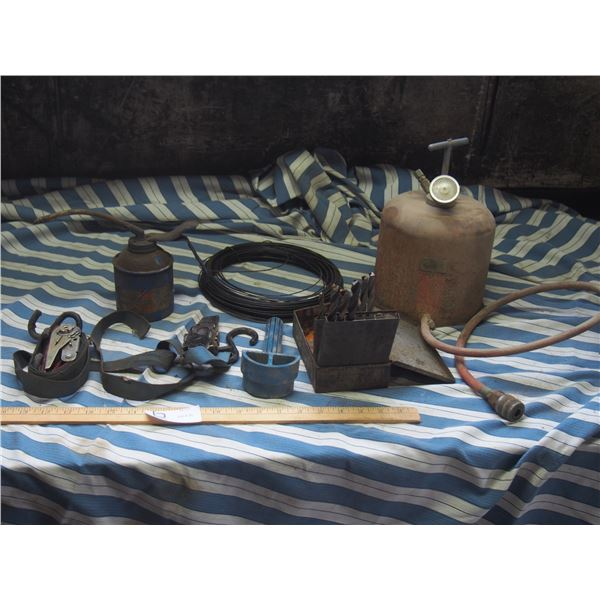 Air Tank, Oiler, Drill Bits and Misc