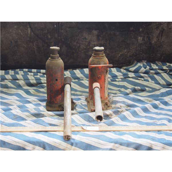 2X THE MONEY - Bottle Jacks (One is 12 Ton) BOTH WORKING