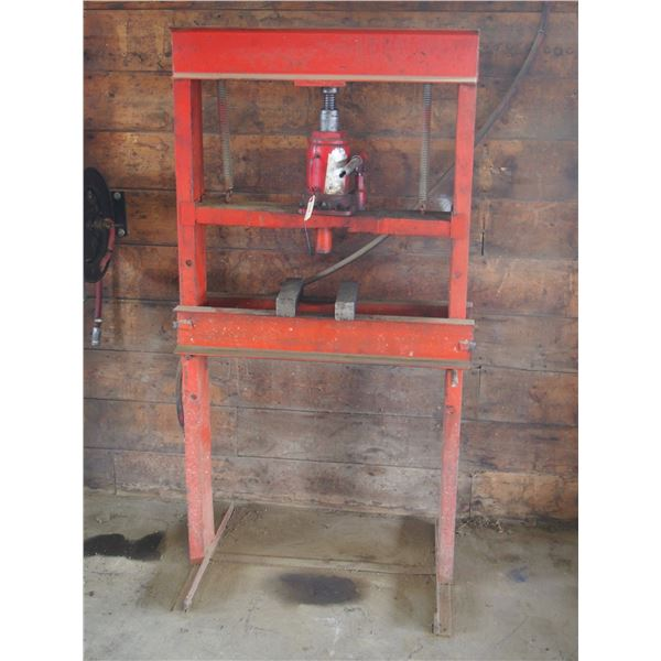 "Hydraulic Press (Stand is 31 by 61"" T)"