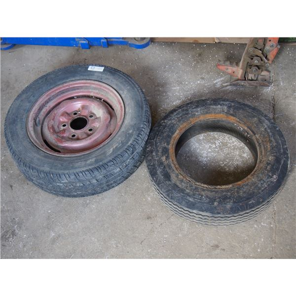 2 Used Tires (1 With Rim)