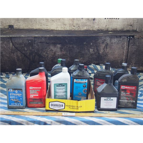Rolair Air Compressor Synthetic Oil Full, Certified Brake Fluid Full and other Partial Misc Oils