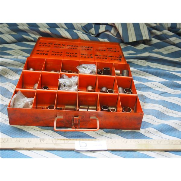 Metal Organizer Box with Brass or Copper Fittings or Sleeves
