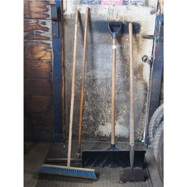 Broom, Snow Scoop, Pick and Squeegee