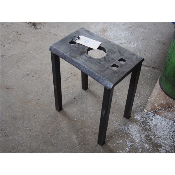 """Little Metal Table or Work Bench 15 by 10 by 17.75"""" T"""