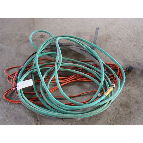 Extension Cord and Garden Hose and Mental Bander