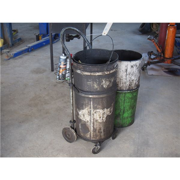 Garbage Can and Washer with Cart