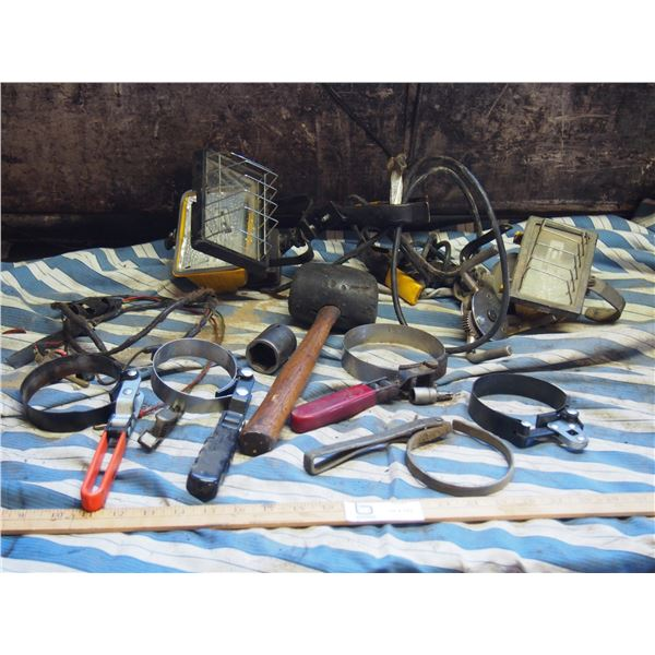 Mallet, Oil Filler Wrenches, Lights and Misc