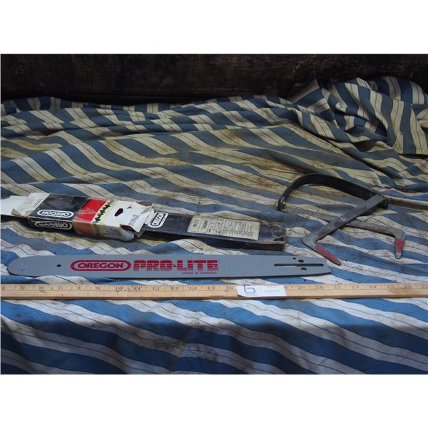 """Pro Lite 16"""" Chain Saw Bar (New) and Battery Carrier"""