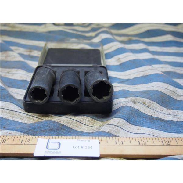 Pro Point 3PC Lug Nut Socket Set in Case
