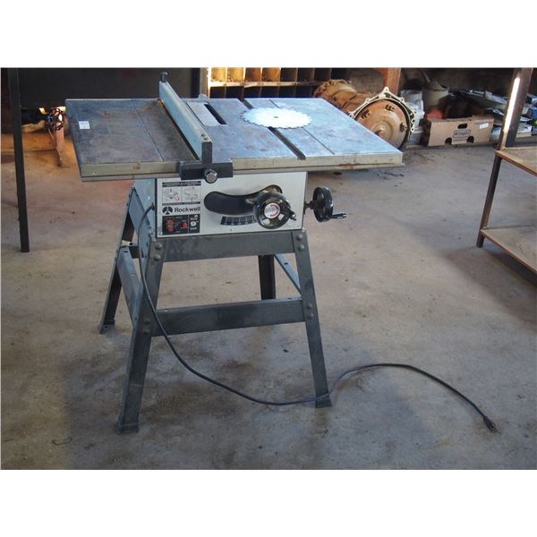 """Rockwell 9"""" Table Saw and Extra Blade (Working)"""