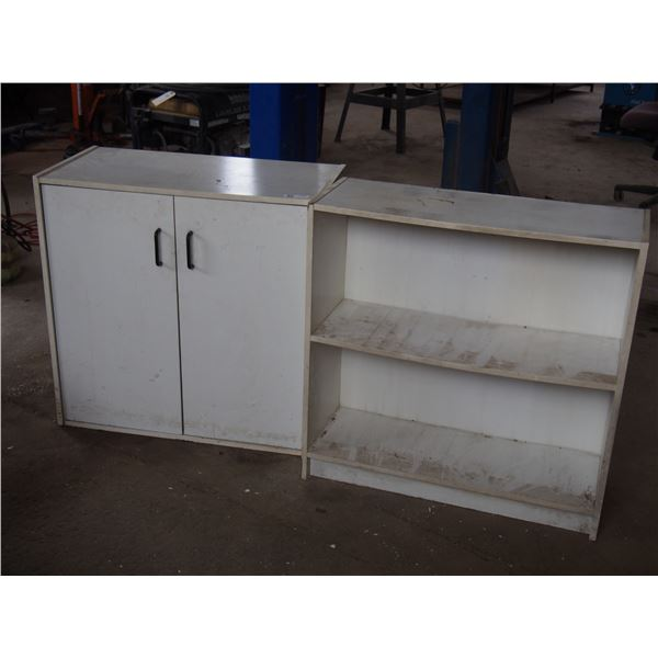 """2 Storage Cabinets Wooden 32 x 16 x 32T and 32 by 12 by 32"""" T"""