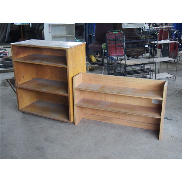 """2 Wooden Store Shelving (Tall Unit: 32 by 16 by 37"""" T)"""