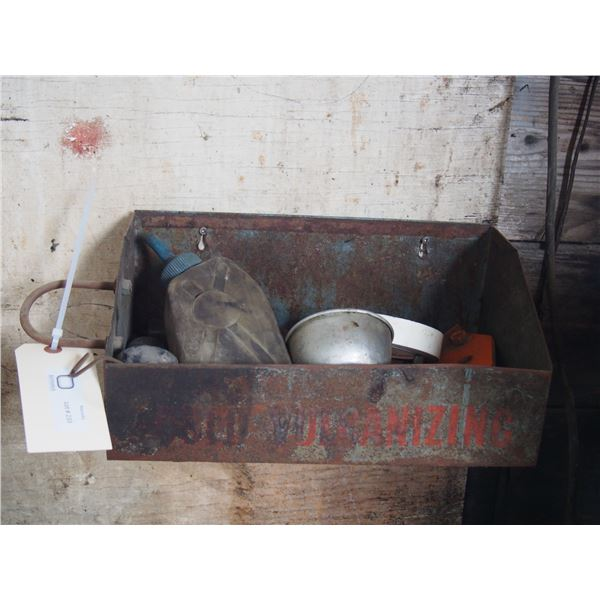 Vulcanizing Tray with Contents