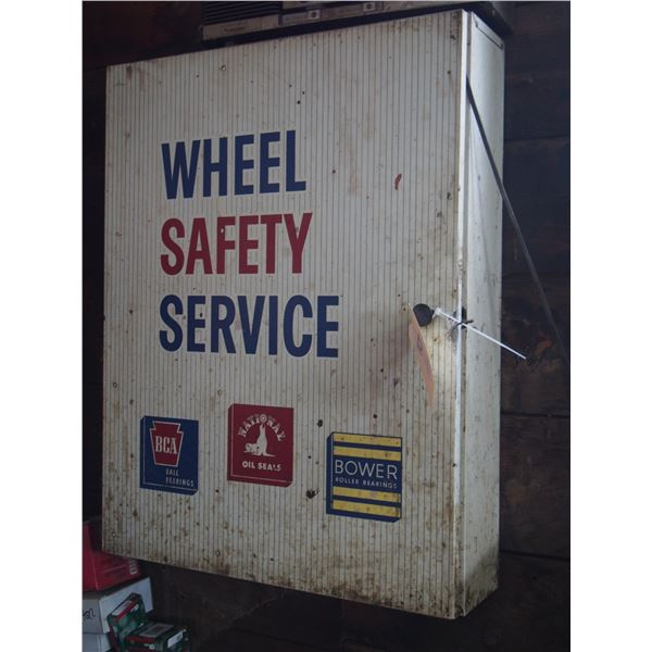 """Wheel Safety Service Metal Display Cabinet 21.5 by 28"""" L"""