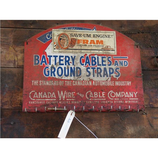 """Canada Wide and Cable Co Display Rack 21 by 16"""" T"""