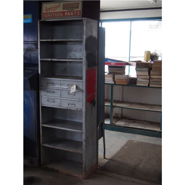 "Sorensen Ignition Parts Metal Cabinet 25 by 80""T"