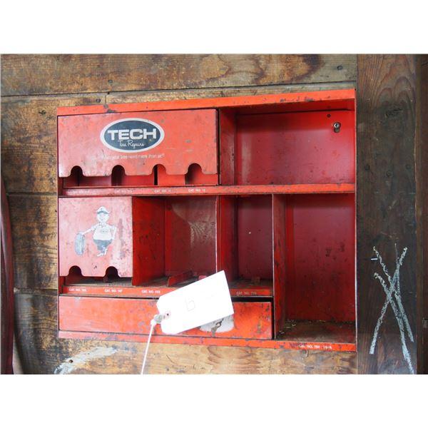 "Tech Tire Repair Metal Display Cabinet 17.5 by 14"" L"