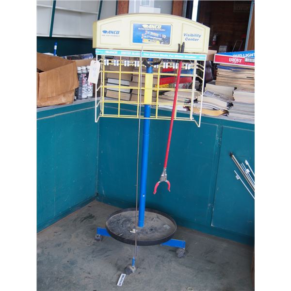 Anco Wiper Display Rack on Casters