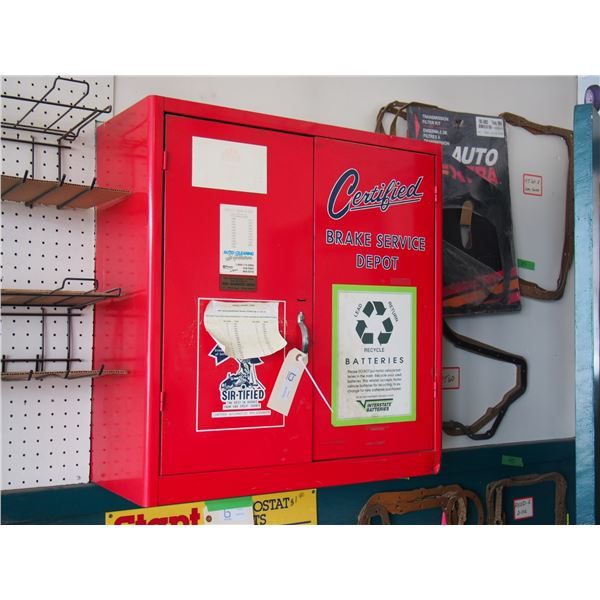 Certified Brake Metal Display Cabinet