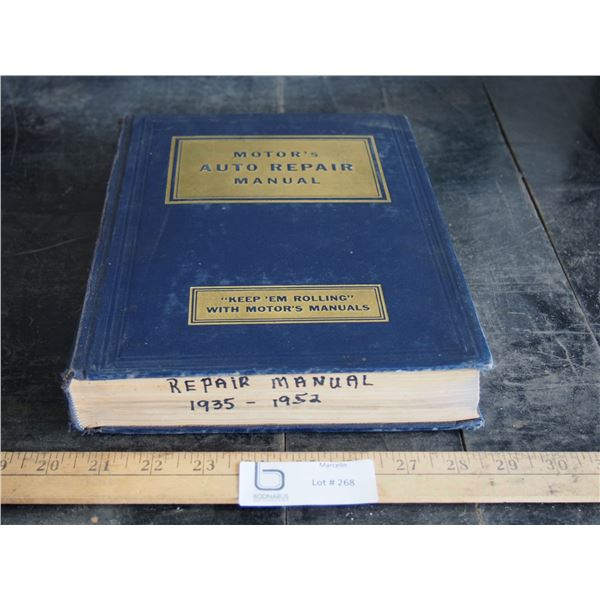 Motor's Auto Repair Manual 1952