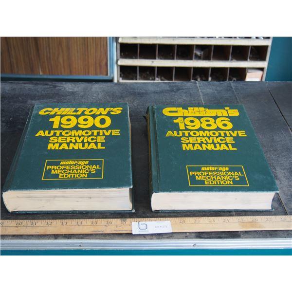 2X THE MONEY - Chilton's 1986/90 Auto Service Manuals