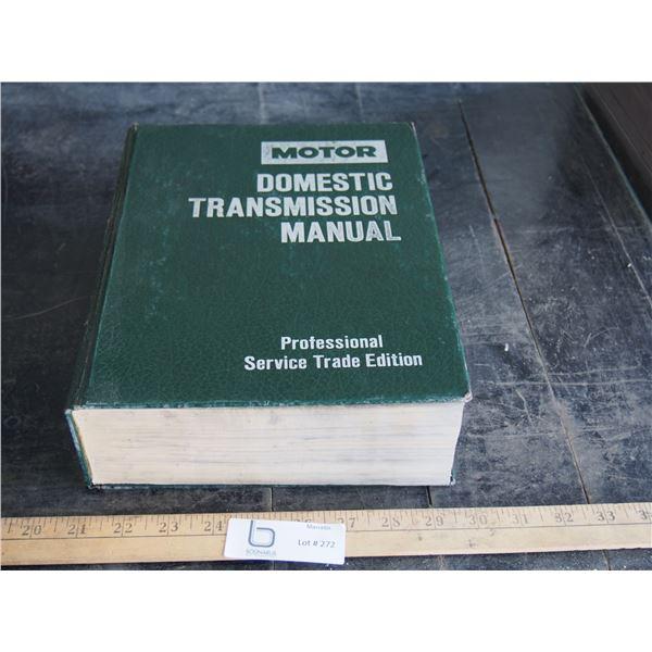Motor Domestic Transmission Manual