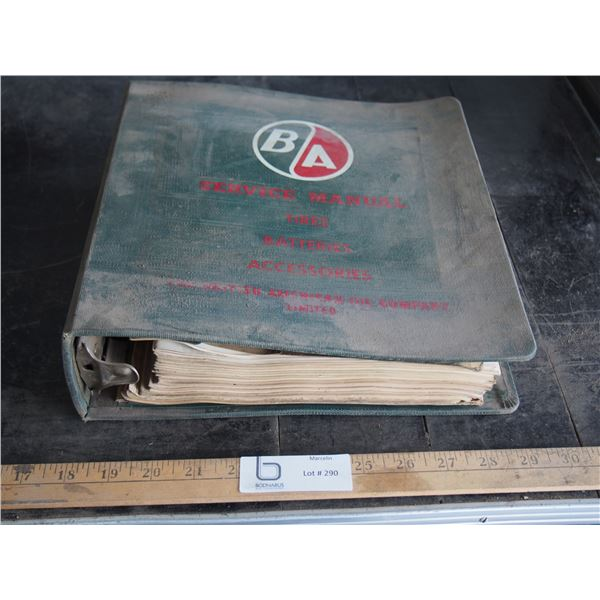 B/A Binder with Auto Technical Info