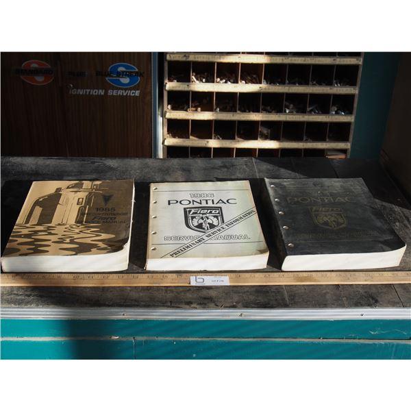 3X THE MONEY - 1985/86 Pontiac Fiera Service Manuals