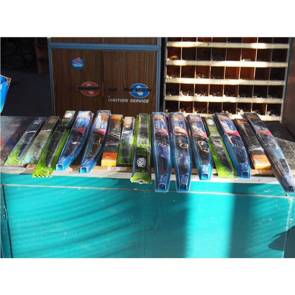 """NOS Wiper Blades from 16 to 26"""" (15 Total)"""