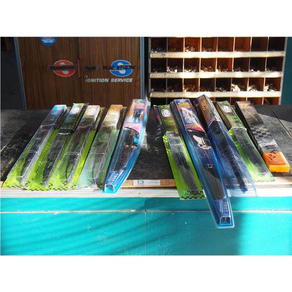 """NOS Wiper Blades From 17 to 28"""" (10 Total)"""