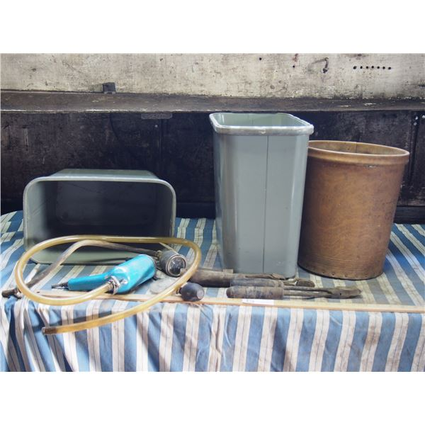 Steel Garbage Cans, Air Tool, Other Tools and Other Garbage Can