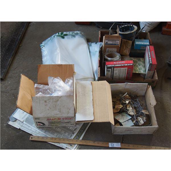 NOS Carburetor Tune Up Kits, Auto Parts and Plastic Bags
