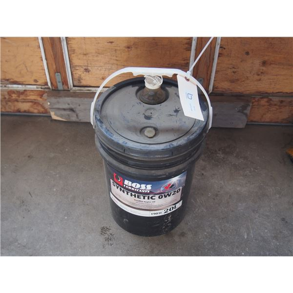 Boss Synthetic 0W20 Engine Oil 20L Pail 1/2 Full