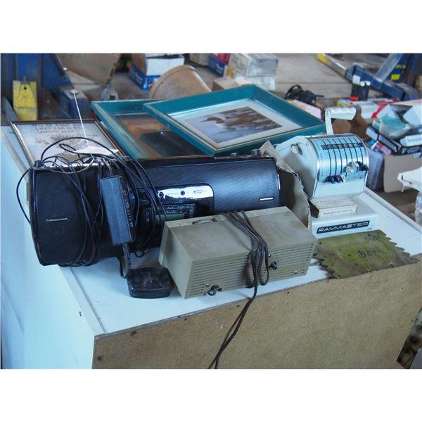 Sirus XM Radio and Adding Machine