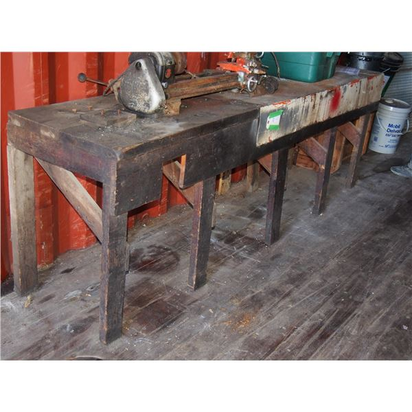 """Work Bench Wooden 8ft by 23 by 31"""" T (No Contents)"""