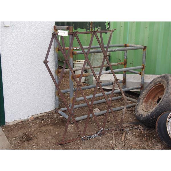 Yard Rake and Metal Rack