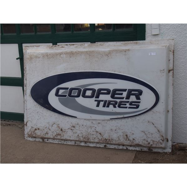 """Cooper Tire Plastic Insert Sign (72"""" x 48"""")"""