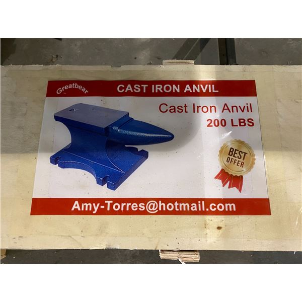 GREATBEAR CAST IRON 200 LBS ANVIL