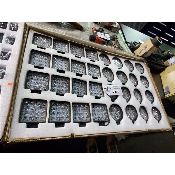 32 PCS 9V-36V MOUNTED LED LIGHTING SET WITH MOUNTING HARDWARE