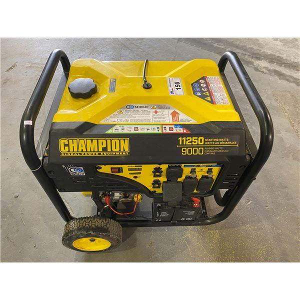 CHAMPION 11250 STARTING WATT/9000 RUNNING WATT PORTABLE GENERATOR (UNKNOWN WORKING CONDITION)