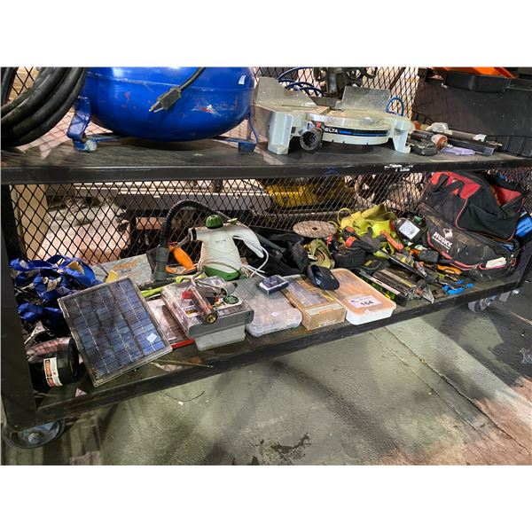 STRAPS, TAPE MEASURES, SMALL HAND TOOLS, CLAMPS, ETC