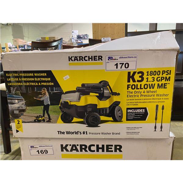KARCHER K3 1800 PSI PRESSURE WASHER (WORKING CONDITION UNKNOWN)