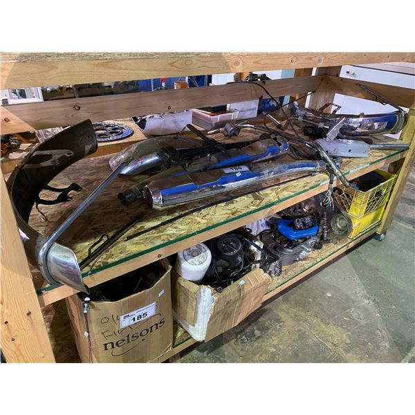 ASSORTED BIKE/MOTORCYCLE PARTS & PIECES